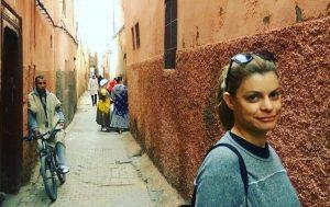 סמטה באיזור המדינה במרקש, מרוקו