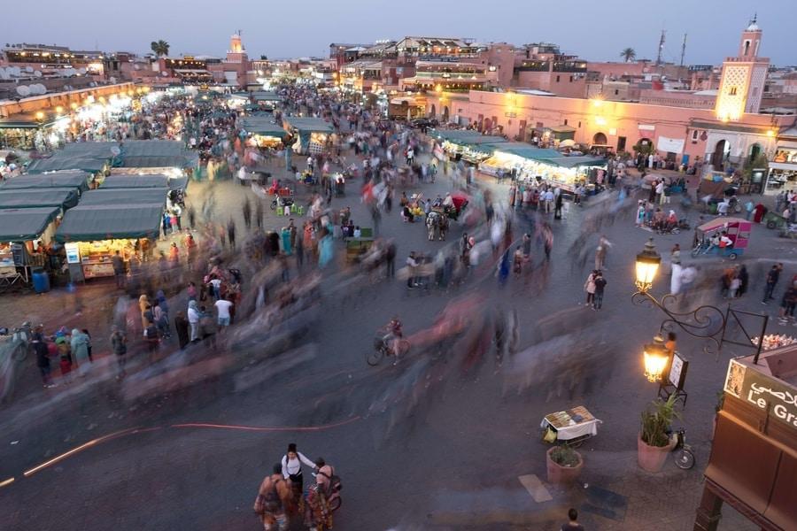 Jemaa el fna Market Square, Marrakesh, Morocco