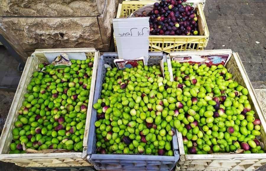 Wadi Nisnas Market, Haifa: fresh olives